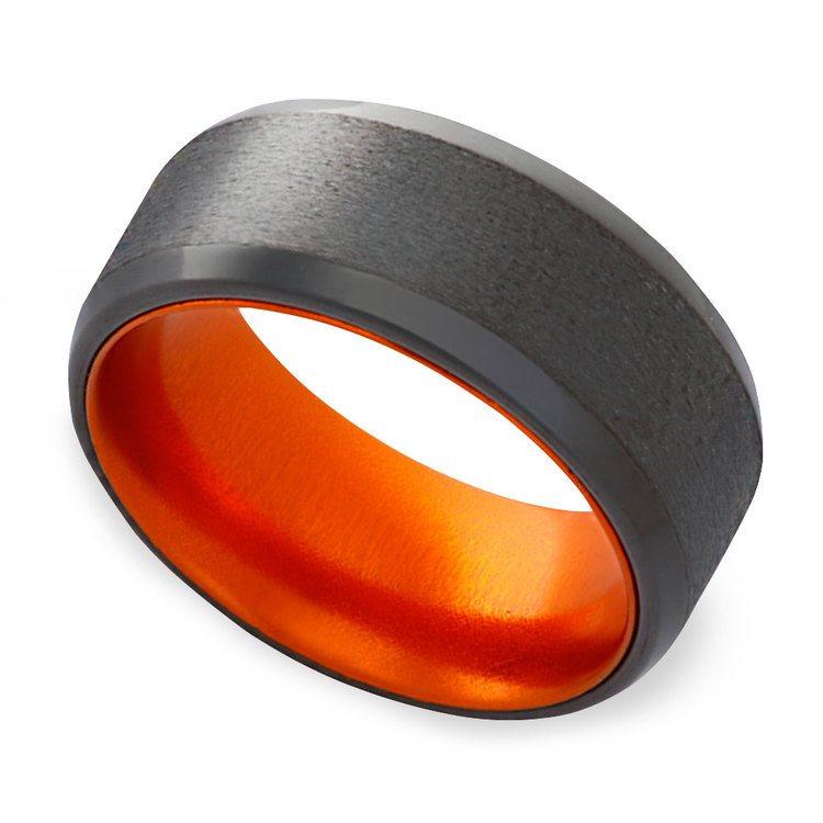 Orange - Zirconium Mens Band | 01