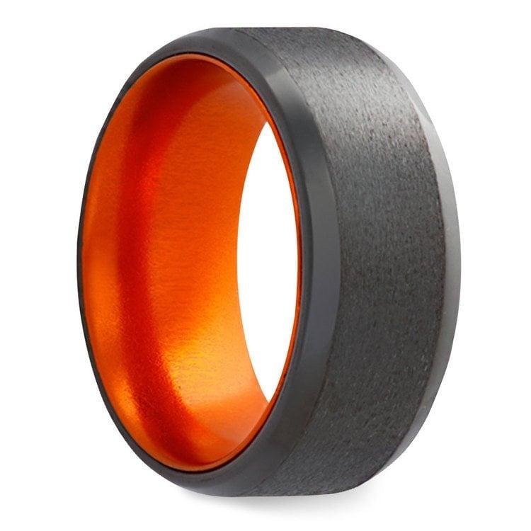 Orange - Zirconium Mens Band | 02