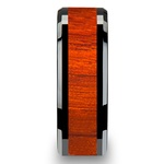 Tiger - Black Ceramic Mens Ring with Padauk Wood Inlay | Thumbnail 03