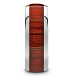 Vermillion - Domed Tungsten Mens Band in Padauk Wood Inlay | Thumbnail 03