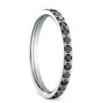 Pave Black Diamond Eternity Ring in White Gold | Thumbnail 02