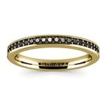 Pave Black Diamond Wedding Ring In Yellow Gold | Thumbnail 02