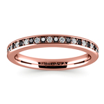 Pave Black & White Diamond Wedding Ring in Rose Gold | Thumbnail 02