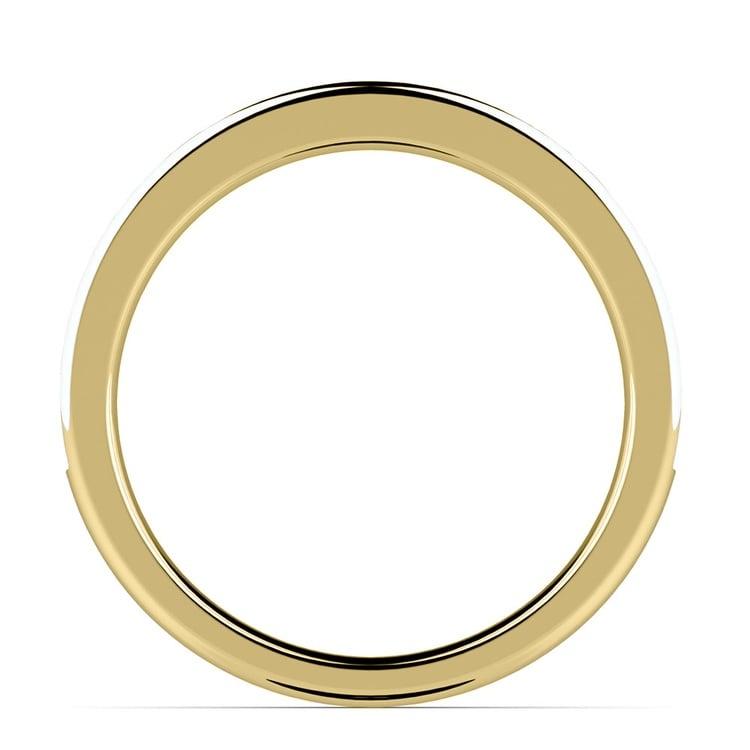Pave Black & White Diamond Wedding Ring in Yellow Gold | 03