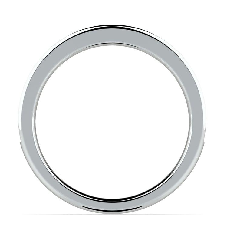 Pave Diamond & Emerald Wedding Ring in Platinum | 03