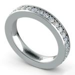 Pave Diamond Eternity Ring in Platinum (1 ctw) | Thumbnail 01