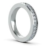 Pave Diamond Eternity Ring in Platinum (1 ctw) | Thumbnail 04