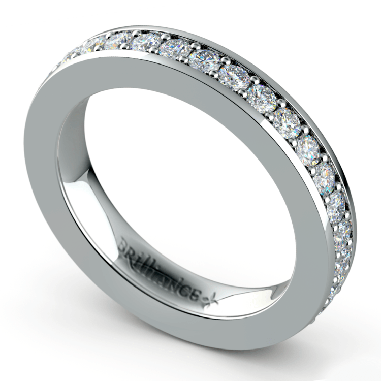 Pave Diamond Eternity Ring in Platinum (1 ctw) | 01