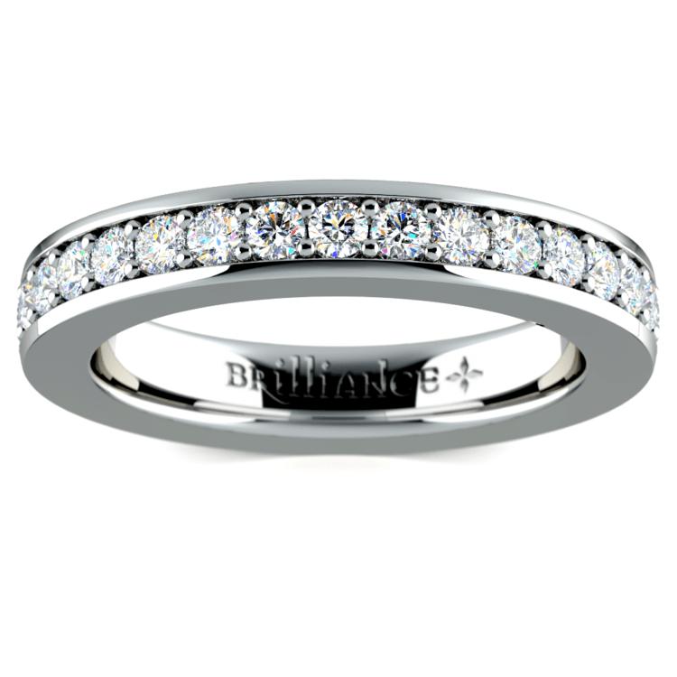 Pave Diamond Eternity Ring in Platinum (1 ctw) | 02