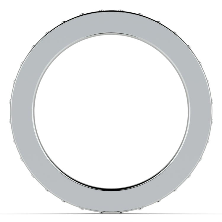 Pave Diamond Eternity Ring in Platinum (1 ctw) | 03