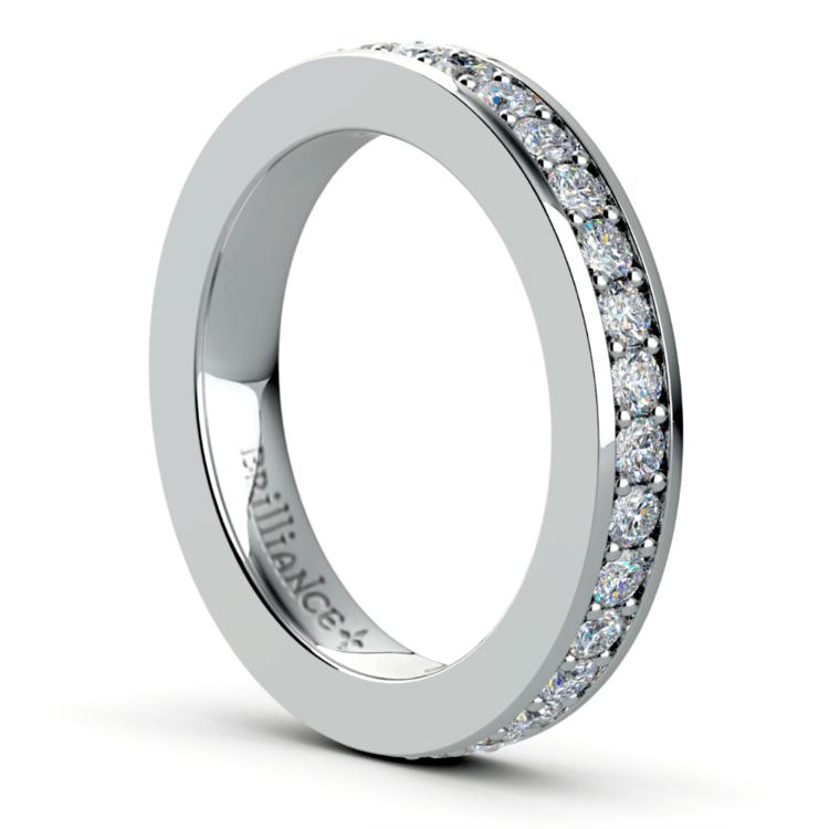 Pave Diamond Eternity Ring in Platinum (1 ctw) | 04