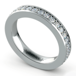 Pave Diamond Eternity Ring in White Gold (1 ctw) | Thumbnail 01