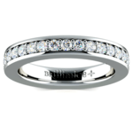 Pave Diamond Eternity Ring in White Gold (1 ctw) | Thumbnail 02