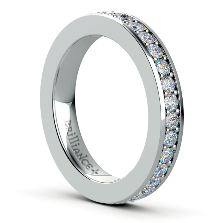 Pave Diamond Eternity Ring in White Gold (1 ctw) | 04