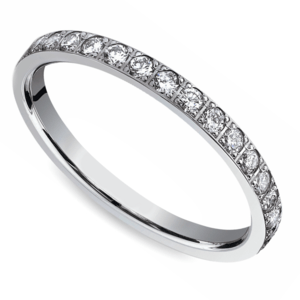 Pave Diamond Eternity Ring in White Gold (3/4 ctw)