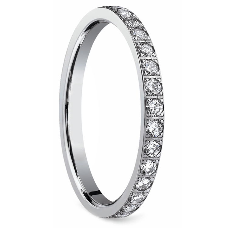 Pave Diamond Eternity Ring in White Gold (3/4 ctw) | 02