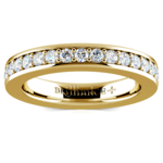 Pave Diamond Eternity Ring in Yellow Gold (1 ctw) | Thumbnail 02