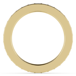 Pave Diamond Eternity Ring in Yellow Gold (1 ctw) | Thumbnail 03