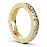 Pave Diamond Eternity Ring in Yellow Gold (1 ctw) | Thumbnail 04
