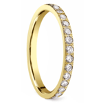 Pave Diamond Eternity Ring in Yellow Gold (3/4 ctw) | Thumbnail 02