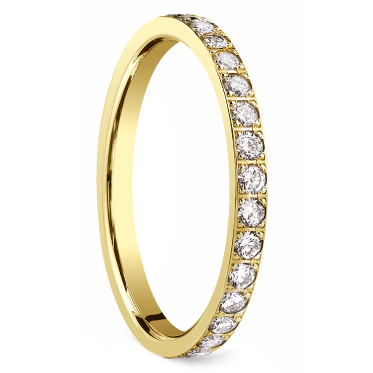 Pave Diamond Eternity Ring in Yellow Gold (3/4 ctw) | 02