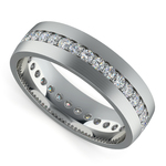 Pave Diamond Eternity Men's Wedding Band in Platinum | Thumbnail 01