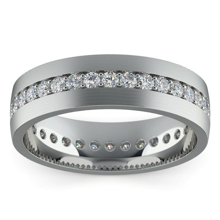 Pave Diamond Eternity Men's Wedding Band in Platinum | 03