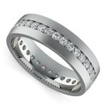 Pave Diamond Eternity Men's Wedding Band in White Gold   Thumbnail 01