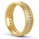 Pave Diamond Eternity Men's Wedding Band in Yellow Gold | Thumbnail 02