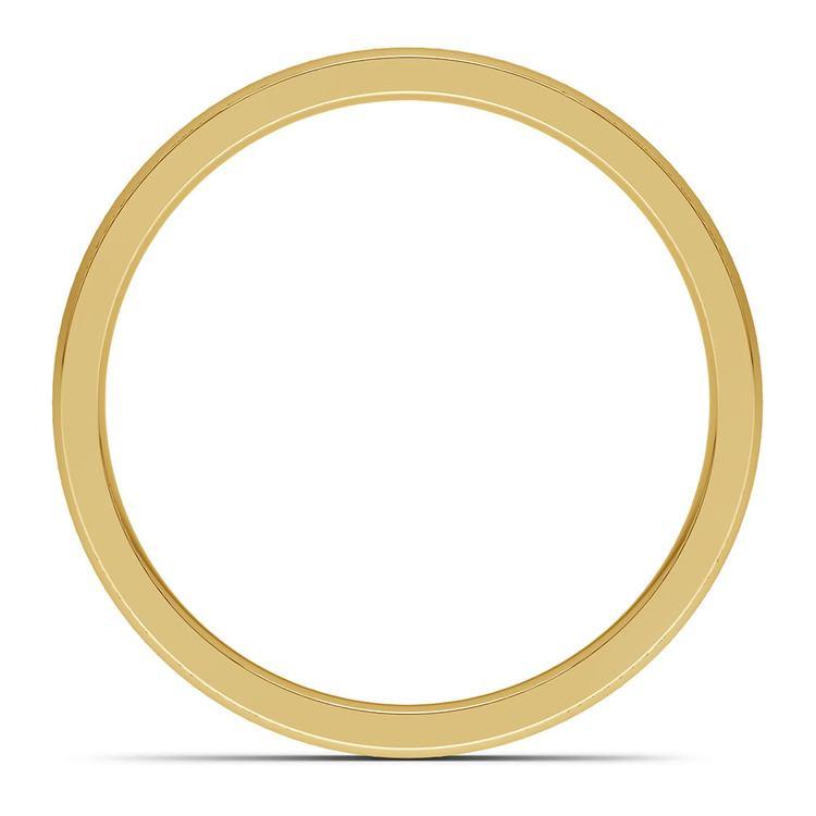 Pave Diamond Eternity Men's Wedding Band in Yellow Gold | 05