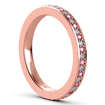 Pave Diamond & Pink Sapphire Eternity Ring in Rose Gold | Thumbnail 04