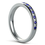 Pave Diamond & Sapphire Wedding Ring in Platinum | Thumbnail 04