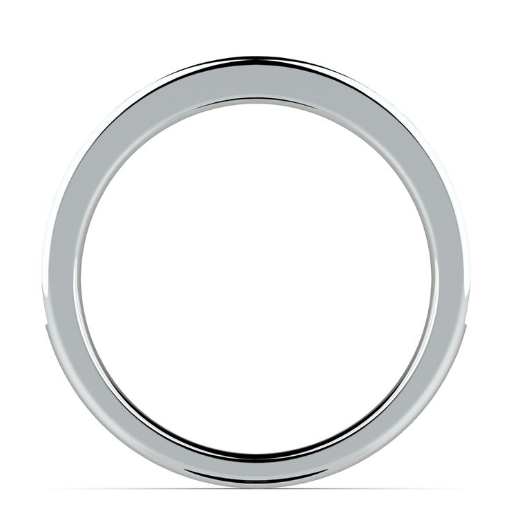 Pave Diamond & Sapphire Wedding Ring in Platinum | 03