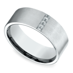Pave Men's Wedding Ring in White Gold (8mm) | Thumbnail 01