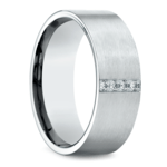 Pave Men's Wedding Ring in White Gold (8mm) | Thumbnail 02