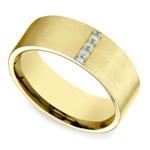 Pave Men's Wedding Ring in Yellow Gold (8mm) | Thumbnail 01