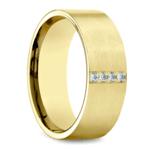 Pave Men's Wedding Ring in Yellow Gold (8mm) | Thumbnail 02