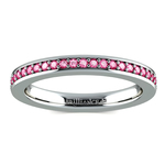 Pave Pink Sapphire Eternity Ring in Platinum | Thumbnail 02