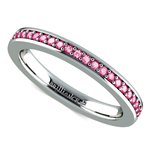 Pave Pink Sapphire Eternity Ring in White Gold | Thumbnail 01