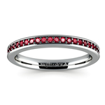 Pave Ruby Gemstone Ring in White Gold | Thumbnail 02