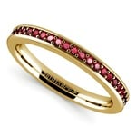Pave Ruby Gemstone Ring in Yellow Gold | Thumbnail 01