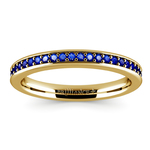 Pave Sapphire Gemstone Ring in Yellow Gold   Thumbnail 02