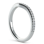 Petite Halo Matching Band in Platinum | Thumbnail 04