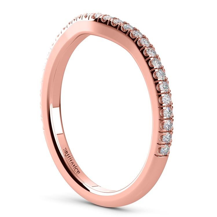 Petite Halo Matching Band in Rose Gold | 04