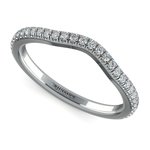 Petite Halo Matching Band in White Gold | Thumbnail 01
