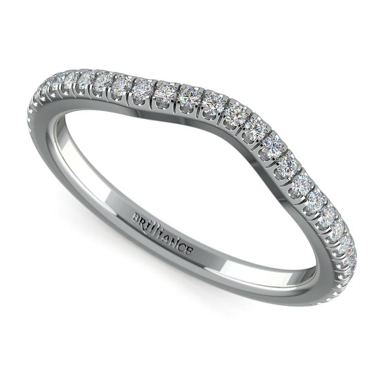 Petite Halo Matching Band in White Gold | 01