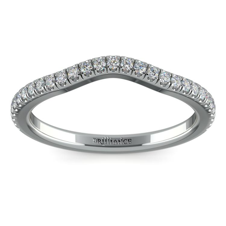 Petite Halo Matching Band in White Gold | 02