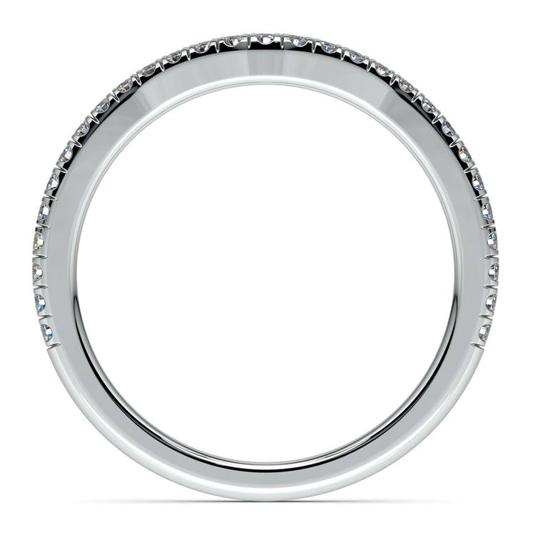 Petite Halo Matching Band in White Gold | 03