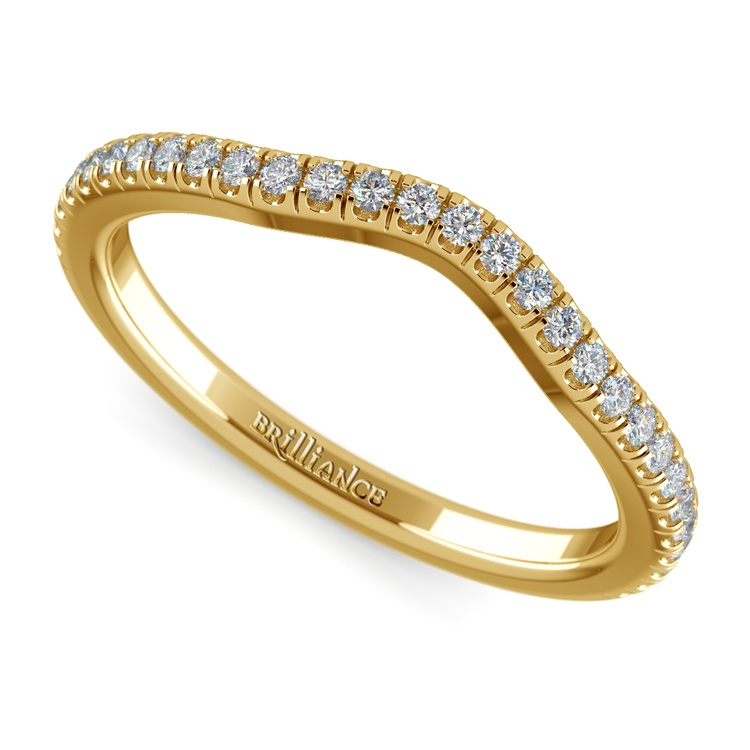 Petite Halo Matching Band in Yellow Gold | 01