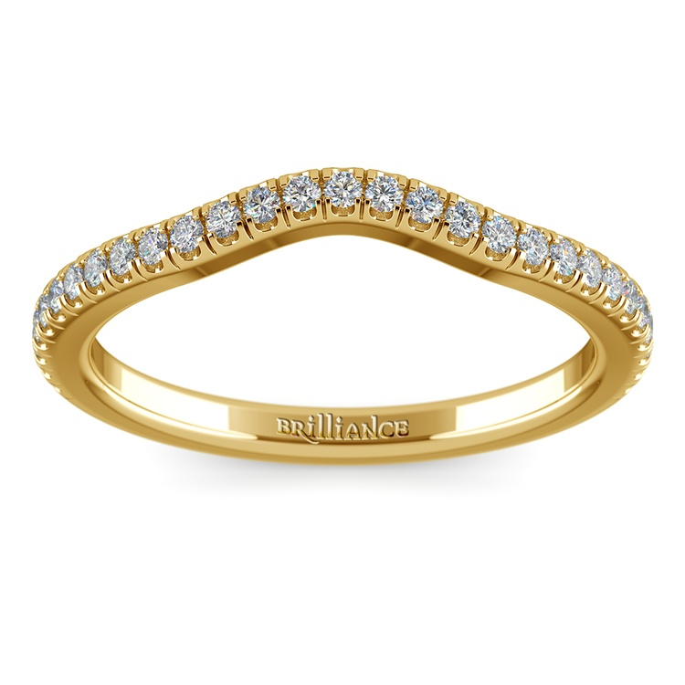 Petite Halo Matching Band in Yellow Gold | 02